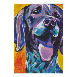German Shorthaired Pointer GSP Pop Art Poster