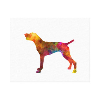 German Shorthaired Pointer in watercolor Canvas Print