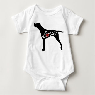 German Shorthaired Pointer Love Baby Bodysuit