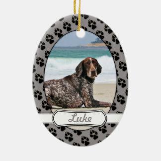German Shorthaired Pointer - Luke - Riley Ceramic Oval Ornament