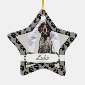 German Shorthaired Pointer - Luke - Riley Ceramic Star Ornament
