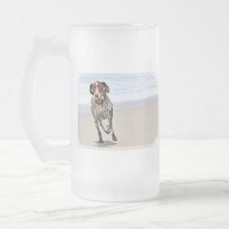 German Shorthaired Pointer - Luke - Riley Frosted Glass Beer Mug