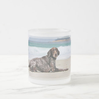 German Shorthaired Pointer - Luke - Riley Frosted Glass Coffee Mug