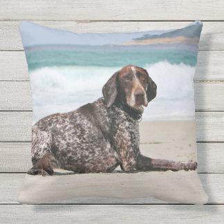 German Shorthaired Pointer - Luke - Riley Outdoor Pillow