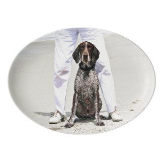 German Shorthaired Pointer - Luke - Riley Porcelain Serving Platter