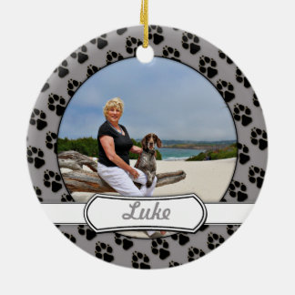 German Shorthaired Pointer - Luke - Riley Round Ceramic Ornament