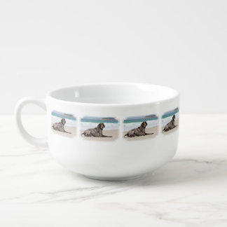 German Shorthaired Pointer - Luke - Riley Soup Bowl With Handle