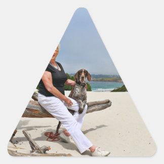German Shorthaired Pointer - Luke - Riley Triangle Sticker