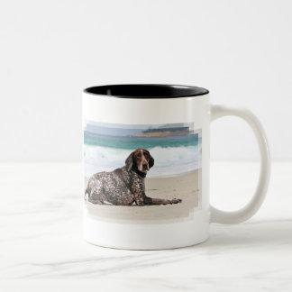 German Shorthaired Pointer - Luke - Riley Two-Tone Coffee Mug