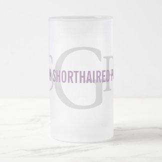 German Shorthaired Pointer Monogram Design 16 Oz Frosted Glass Beer Mug