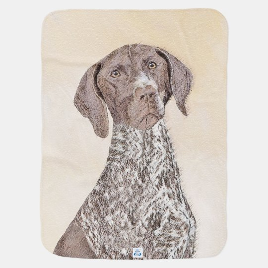 German Shorthaired Pointer Painting - Dog Art Baby Blanket