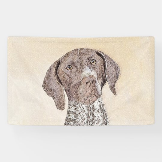 German Shorthaired Pointer Painting - Dog Art Banner