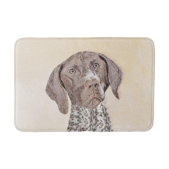 German Shorthaired Pointer Painting - Dog Art Bath Mat