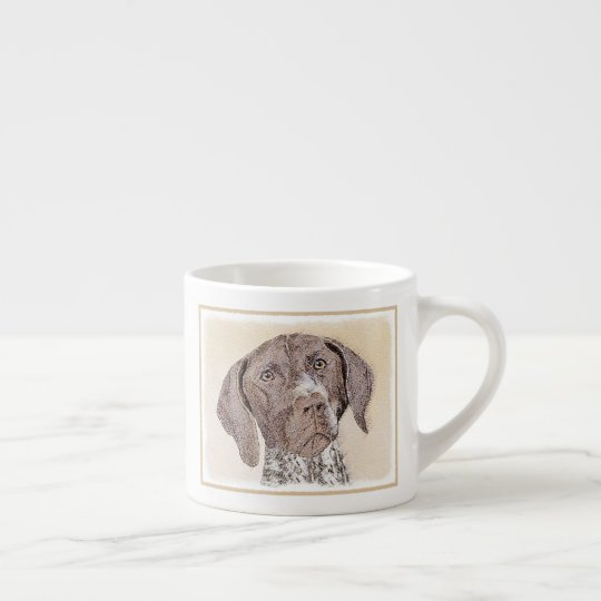 German Shorthaired Pointer Painting - Dog Art Espresso Cup