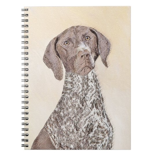 German Shorthaired Pointer Painting - Dog Art Notebook