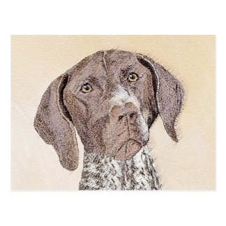 German Shorthaired Pointer Painting - Dog Art Postcard