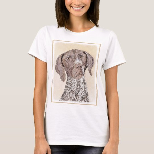 German Shorthaired Pointer Painting - Dog Art T-Shirt