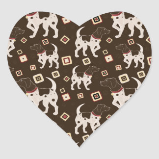 German Shorthaired Pointer Pattern Heart Sticker