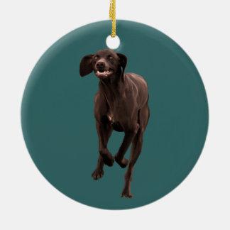 German Shorthaired Pointer Pet-lover Round Ceramic Ornament