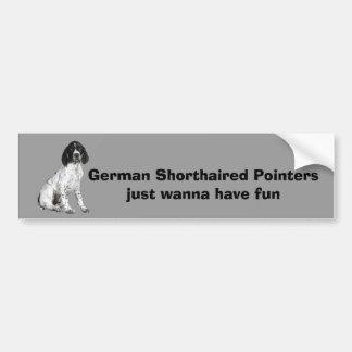 German Shorthaired Pointer Puppy Bumper Sticker