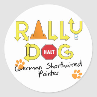 German Shorthaired Pointer Rally Dog Classic Round Sticker