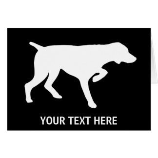 German Shorthaired Pointer silhouette Card