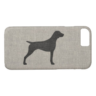 German Shorthaired Pointer Silhouette iPhone 8/7 Case