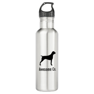 German Shorthaired Pointer Silhouette with Text 710 Ml Water Bottle