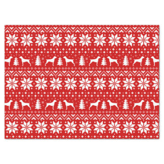 German Shorthaired Pointer Silhouettes Christmas Tissue Paper