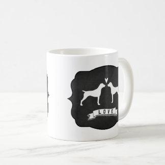 German Shorthaired Pointer Silhouettes Love Coffee Mug