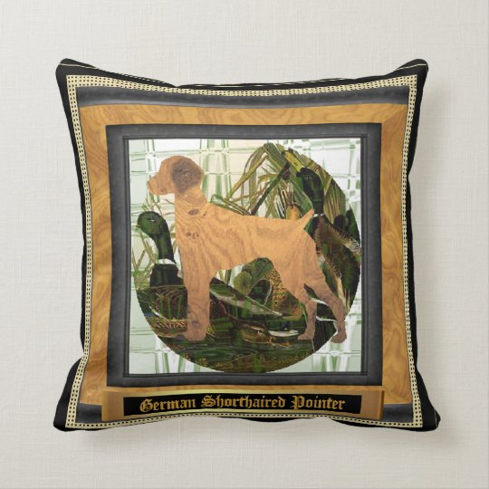 German Shorthaired Pointer Sport Throw Pillow