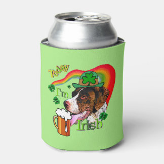 German Shorthaired Pointer St Patricks Day Can Cooler