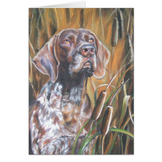 german shorthaired pointer thanksgiving card gsp