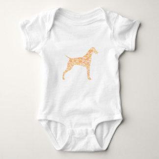 German Shorthaired Pointer Typography Baby Bodysuit
