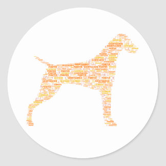 German Shorthaired Pointer Typography Classic Round Sticker