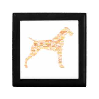 German Shorthaired Pointer Typography Gift Box