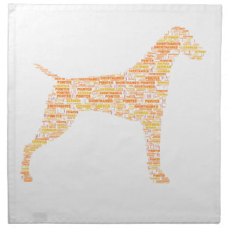 German Shorthaired Pointer Typography Napkin