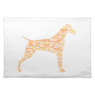 German Shorthaired Pointer Typography Placemat