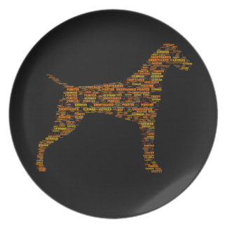 German Shorthaired Pointer Typography Plate