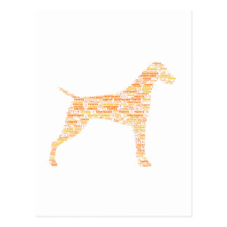 German Shorthaired Pointer Typography Postcard