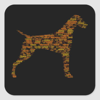 German Shorthaired Pointer Typography Square Sticker