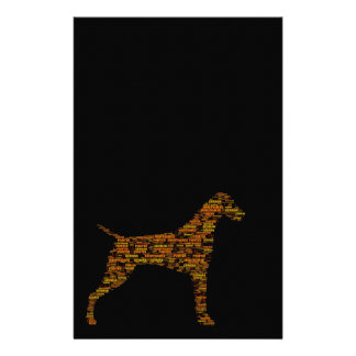 German Shorthaired Pointer Typography Stationery