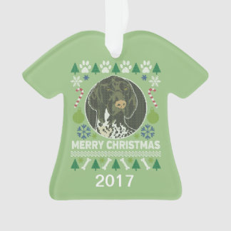 German Shorthaired Pointer Ugly Christmas Sweater Ornament