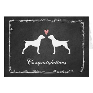 German Shorthaired Pointer Wedding Congratulations Card