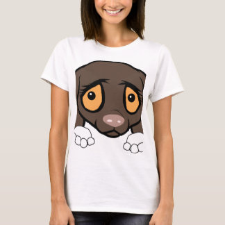 german shorthaired pointer white and liver peeking T-Shirt