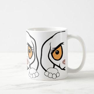 german shorthaired pointer white peeking coffee mug