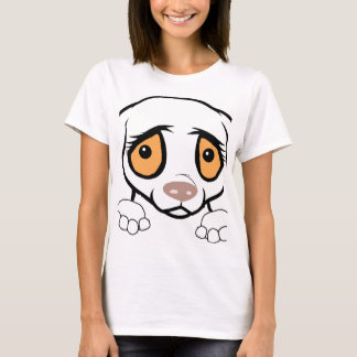 german shorthaired pointer white peeking T-Shirt