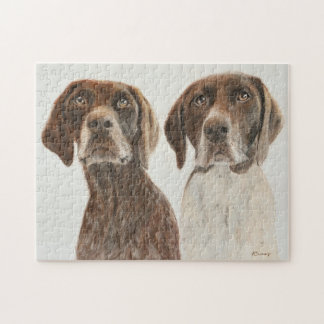 German Shorthaired Pointers Jigsaw Puzzle