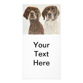 German Shorthaired Pointers Photo Card