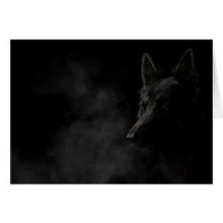 German shpherd dog card